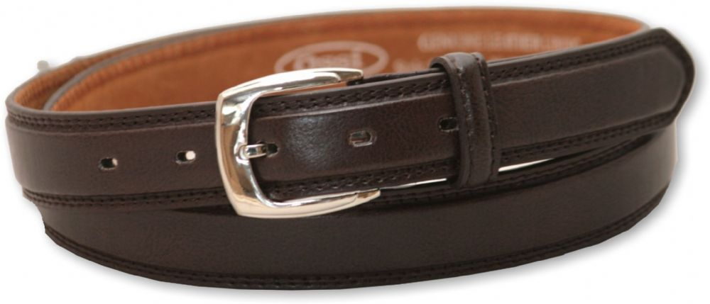 "Boys Brown Leather Lined Suit Trouser Belt Sizes 20"" - 36"""
